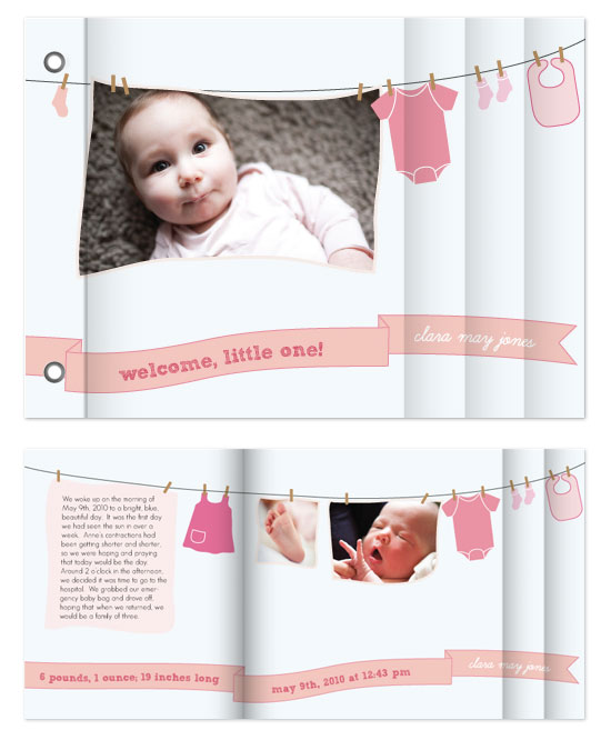 minibook cards - Onesie Welcome by Becca Thongkham