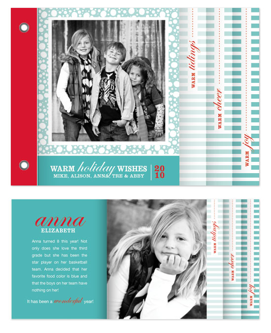 minibook cards - Snowy Holiday Minibook Card by Ashley Inzer