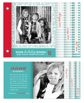 Snowy Holiday Minibook Card