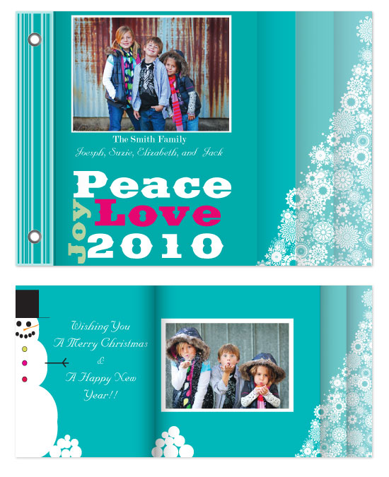 minibook cards - Peace, Love, and Joy by Jennifer Stein of PS Designs Etc.