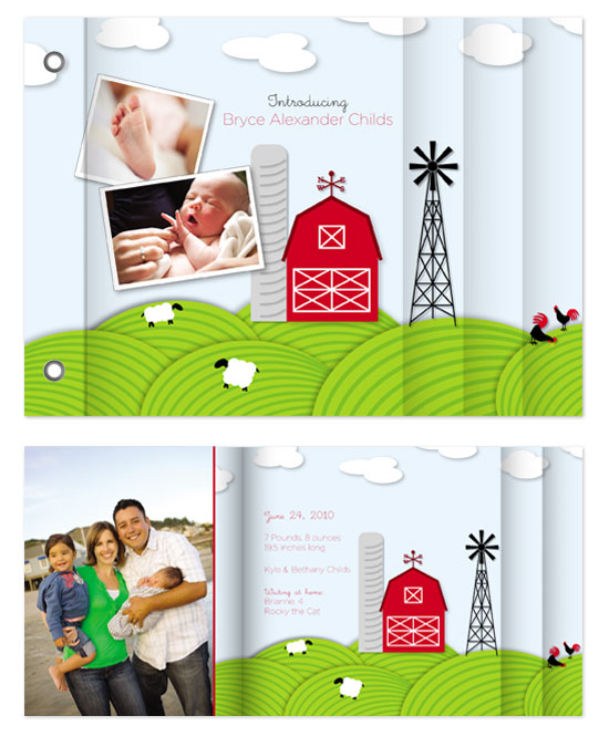 minibook cards - Our Little Farmer by Bethany Anderson