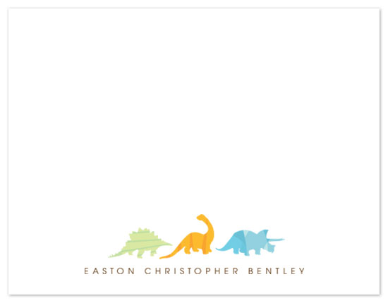 personal stationery - Dino Parade by Jennifer Postorino