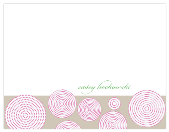 personal stationery - Pink Swirls by Cami