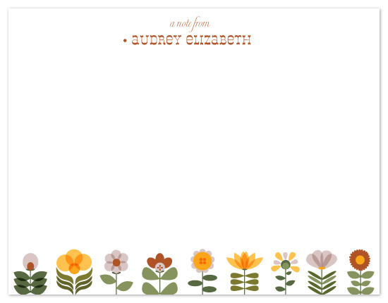 personal stationery - Adorable Flowers by Raquel Salaro