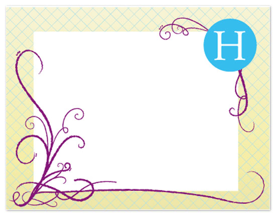 personal stationery - Large Letter by ColorCoated