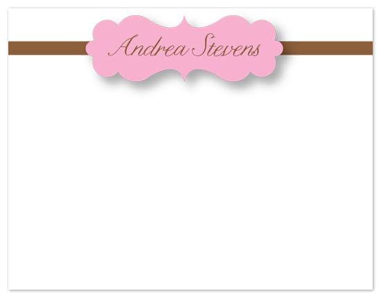 personal stationery - Simple Name by Laurel Goodroe