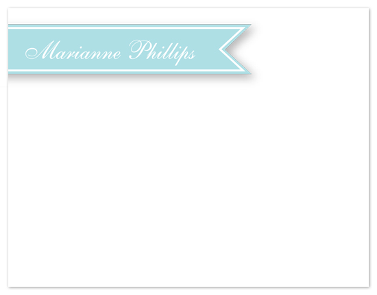 personal stationery - A Banner Name by Laurel Goodroe