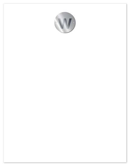 personal stationery - silver badge by Vivien Lau