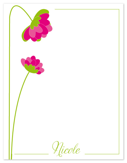personal stationery - flowered by Judith Peña