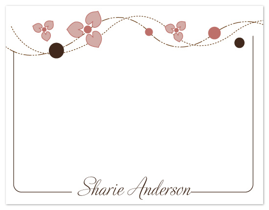 personal stationery - wave charm by Judith Peña