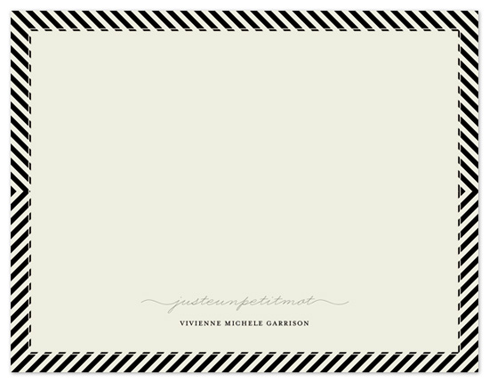 personal stationery - P A R I S + from stripes to chevrons by Emily Ranneby