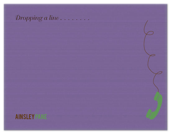personal stationery - Drop A Line by Etched