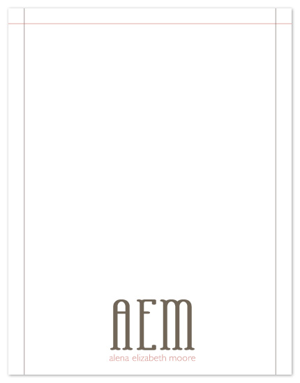 personal stationery - Elegant Initials by Kate Lissi