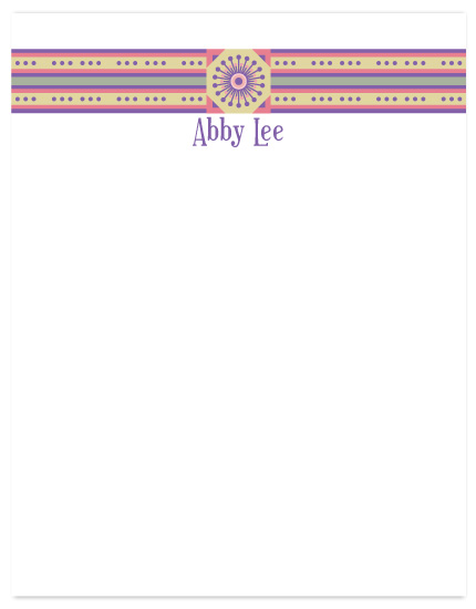 personal stationery - Dots and Stripes by Gott Graphics Design