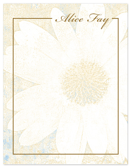 personal stationery - Textured Daisy by Gott Graphics Design