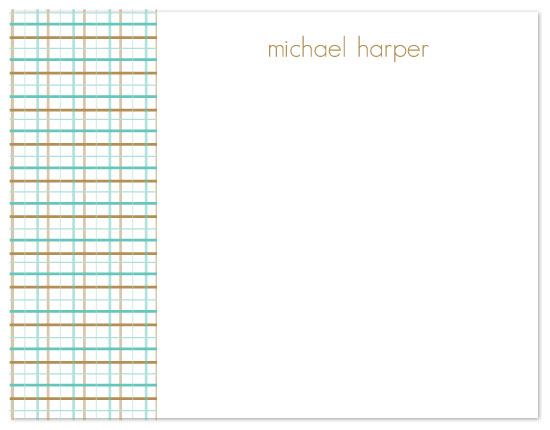personal stationery - men's checked by Ashley Porter