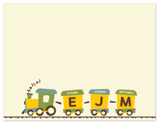 personal stationery - Name Train by Kate Lissi