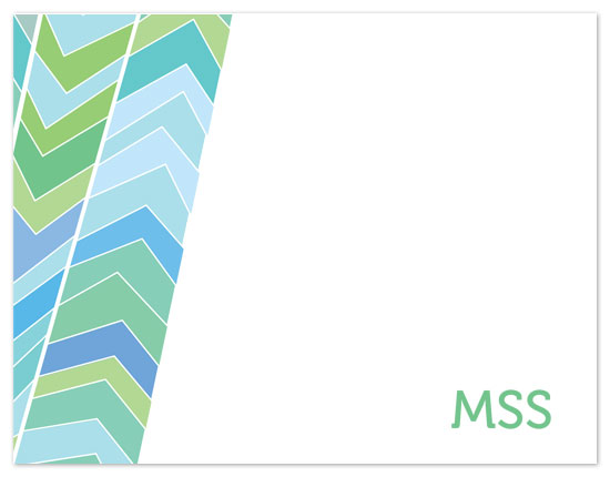 personal stationery - Green Arrow Texture with Initials by mdesigns
