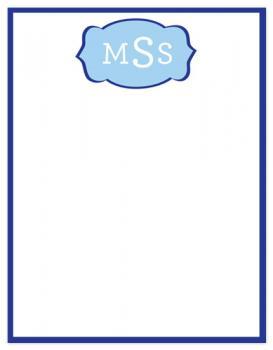 Fun Blue Flourish Initials Design