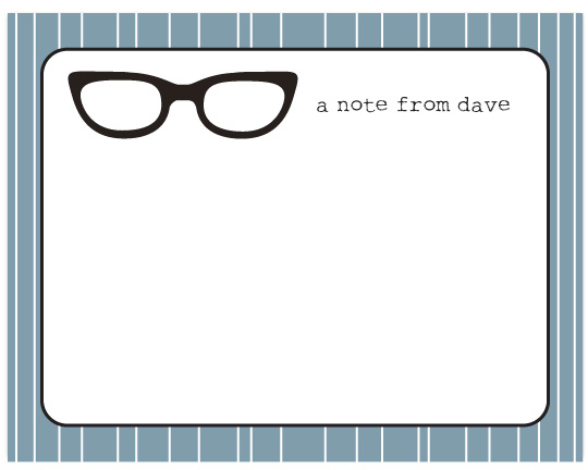 personal stationery - Specs by Audrey Clayton
