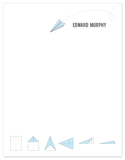 personal stationery - Airmail by Becca Thongkham
