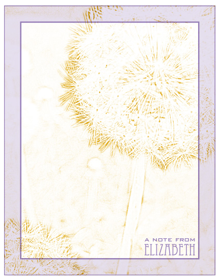 personal stationery - Dandelion by Gott Graphics Design
