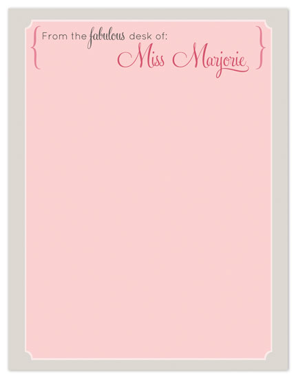 personal stationery - Fabulously Elegent Pink Stationery by mdesigns
