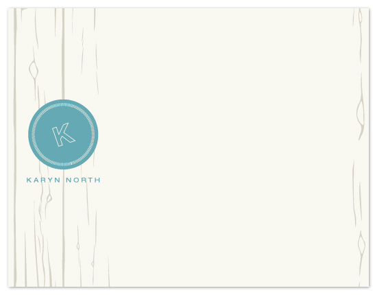 personal stationery - Soft Wood Grain by Inkwell Creative