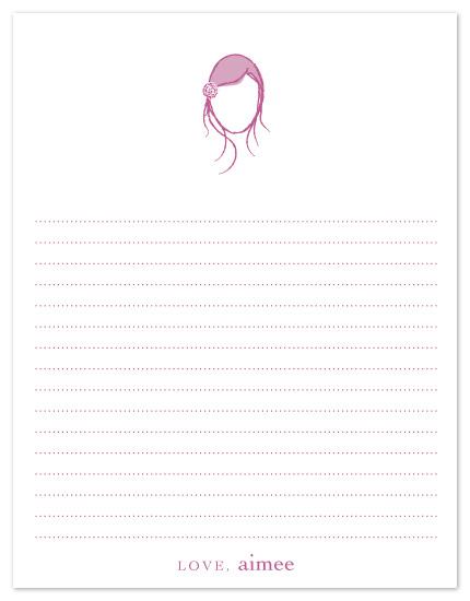 personal stationery - Wispy Feminine Silhouette by Inkwell Creative