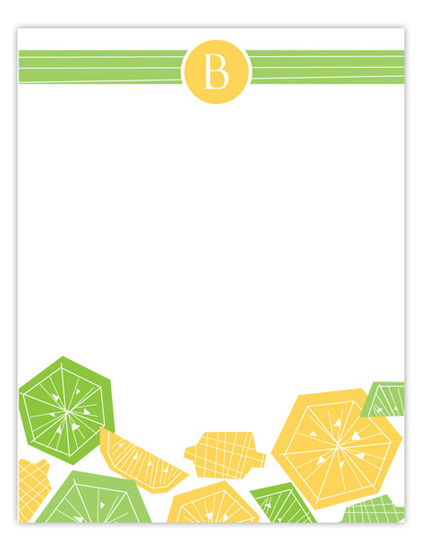 personal stationery - Lemon Lime by Tamara Henderson