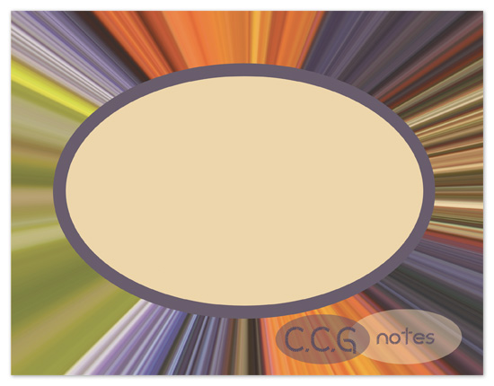 personal stationery - Counter Clockwise color window by Jessica Termini