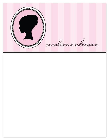 personal stationery - Caroline Modern Silhouette by Peach Blossom Paperie