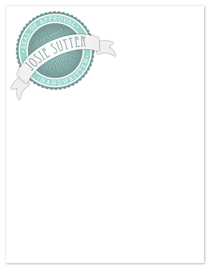 personal stationery - Seal of Approval by Holly Hanna