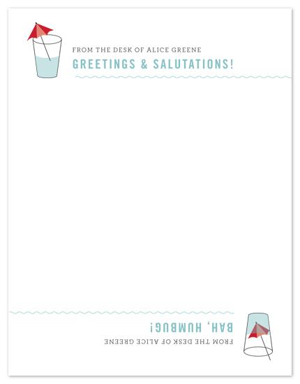 personal stationery - Half Full, Half Empty Flip Card by Amanda Larsen Design