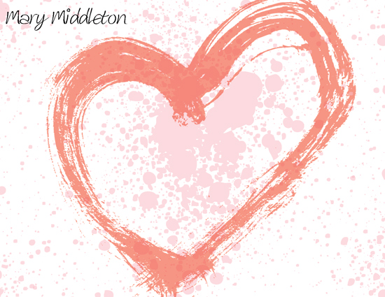 personal stationery - Heart Splatter Stationary by Kierra Fortney