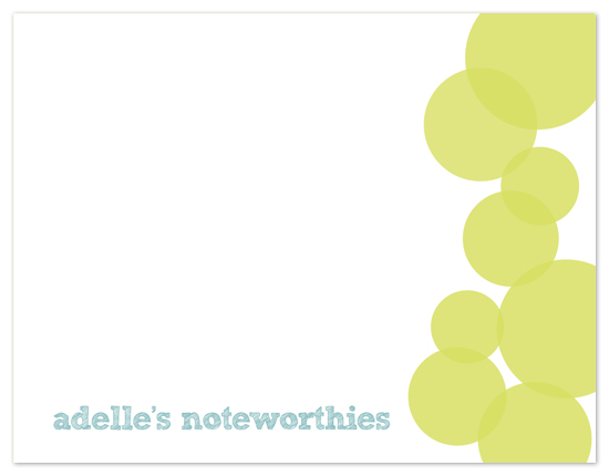 personal stationery - Noteworthies by Heidi Stock Design