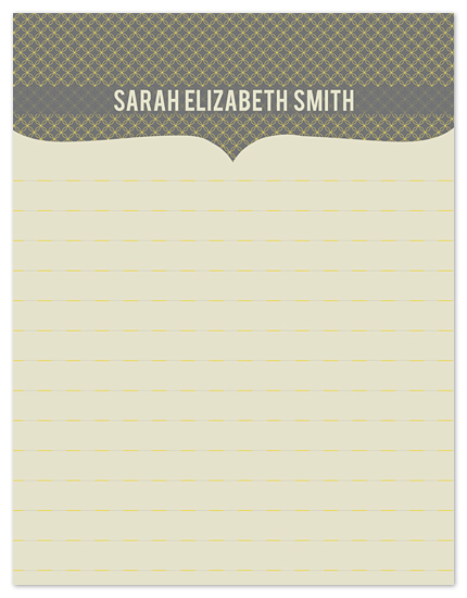 personal stationery - Vintage Classic by Heidi Stock Design