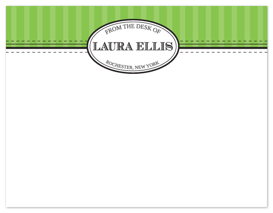 personal stationery - Laura Modern Seal by Peach Blossom Paperie