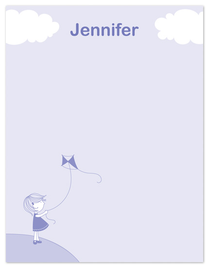 personal stationery - Little Girl and Kite by Gaby Contreras