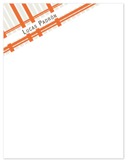 personal stationery - Plaid Notes by Lizzy B Loves