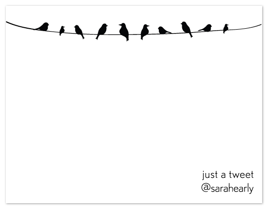 personal stationery - Just a Tweet by Sarah Early