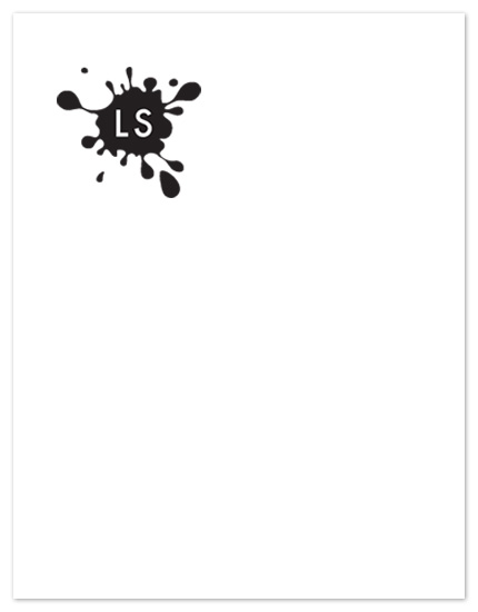 personal stationery - Ink Blot by Eutopia Events