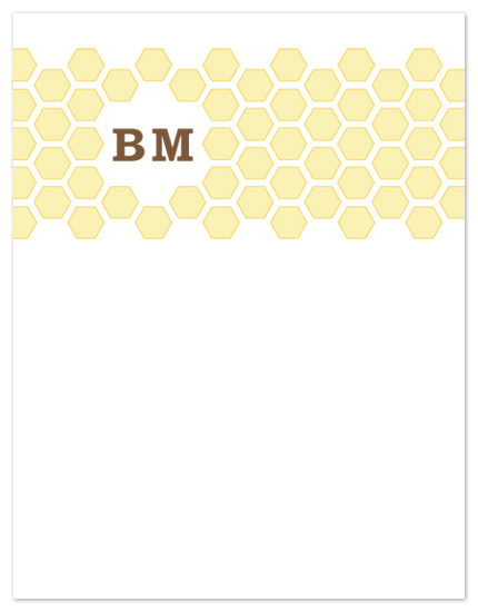 personal stationery - Honeycomb Hive by Eutopia Events