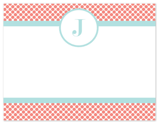 personal stationery - Pokka Dot Paradise by Jennifer Stein of PS Designs Etc.
