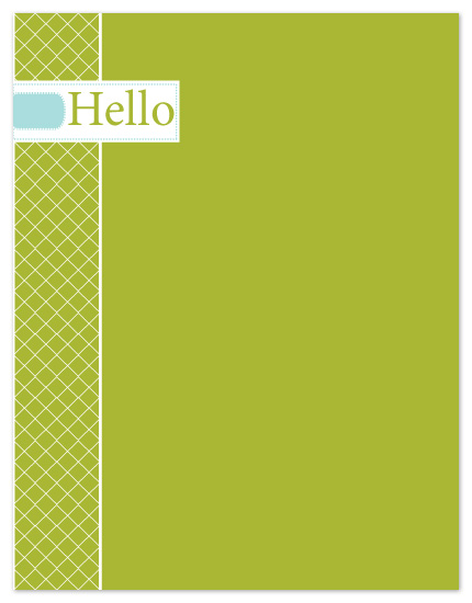 personal stationery - Hello by Jennifer Stein of PS Designs Etc.