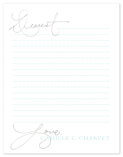 personal stationery - Dearest Letter by www.project1128.com