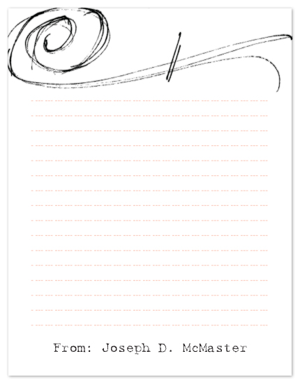 personal stationery - Sketchy Letter by www.project1128.com