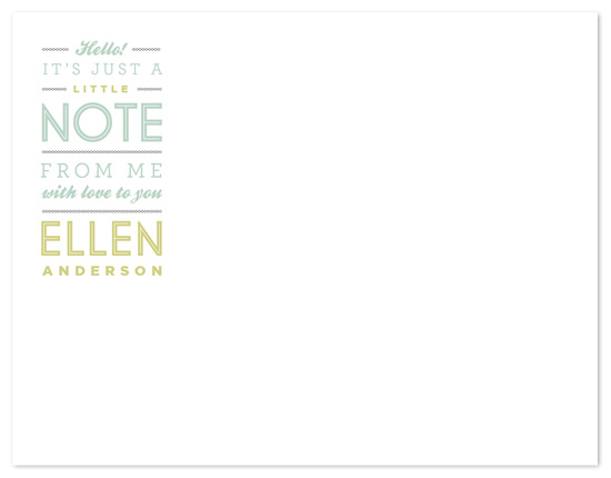 personal stationery - little note by Moglea