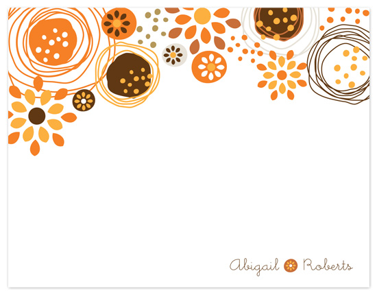 personal stationery - Dancing Flowers by Robin Ott