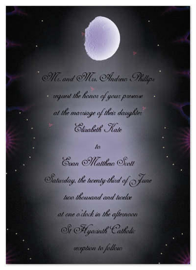 wedding invitations - I Swear by the moon and the stars in the sky by Jessica Termini